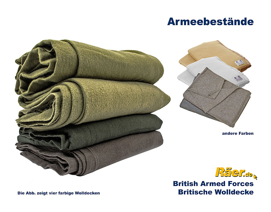 britische wolldecke b c bundeswehr shop r er hildesheim. Black Bedroom Furniture Sets. Home Design Ideas