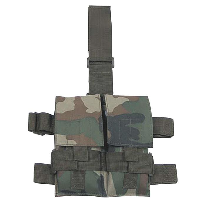 Сумка на ногу для двух магазинов, камуфляж woodland - BUNDES.WARVAR.RU - недорогая военная одежда и снаряжение...