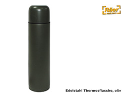 thermosflasche edelstahlflasche 1 liter oliv a. Black Bedroom Furniture Sets. Home Design Ideas