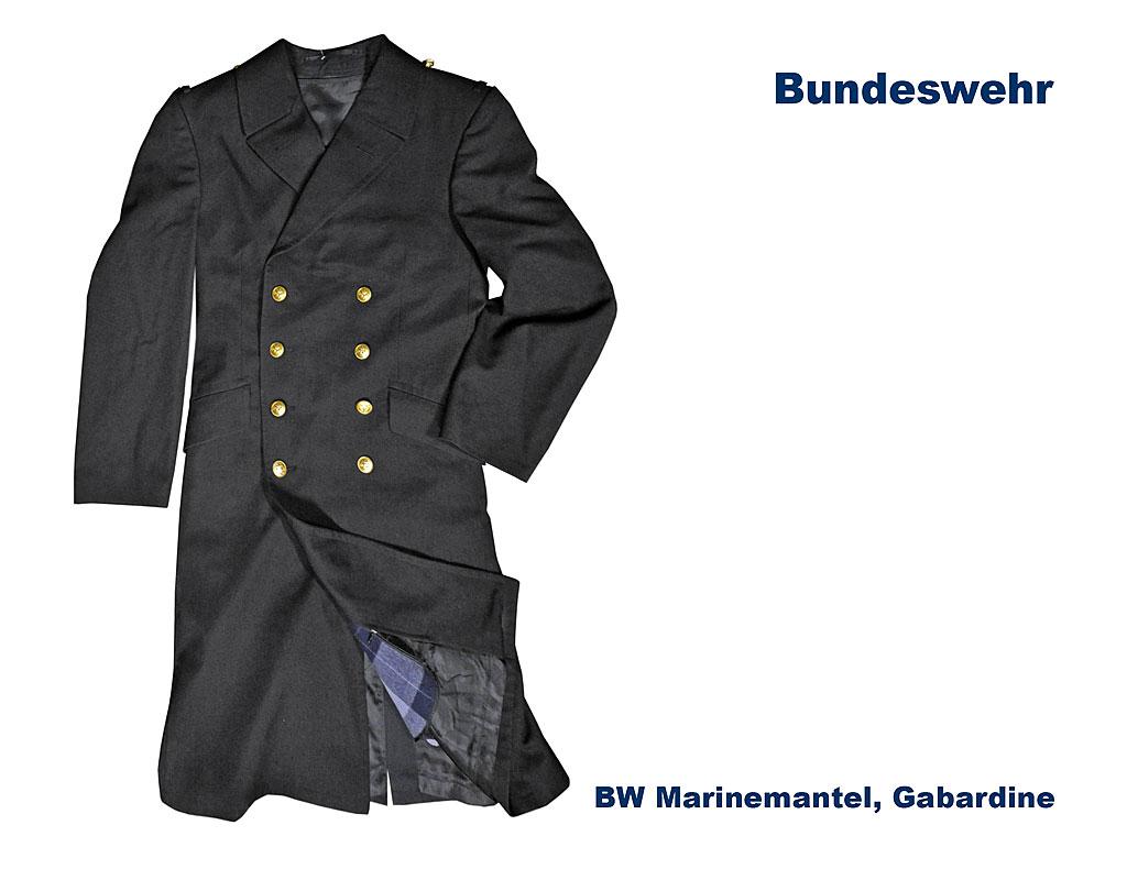 BW Marinemantel, Gabardine B Bundeswehr Shop Räer Hildesheim