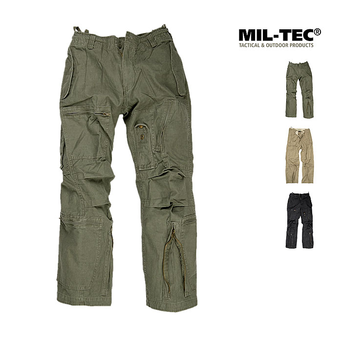 Mil-Tec Fliegerhose washed Cotton --x    A