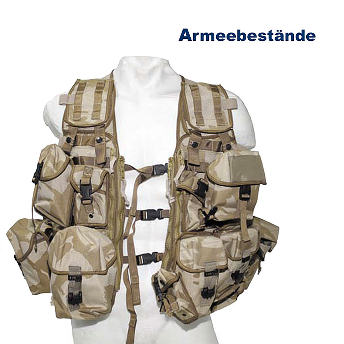 Britische Weste Molle Load Carrying, desert    B