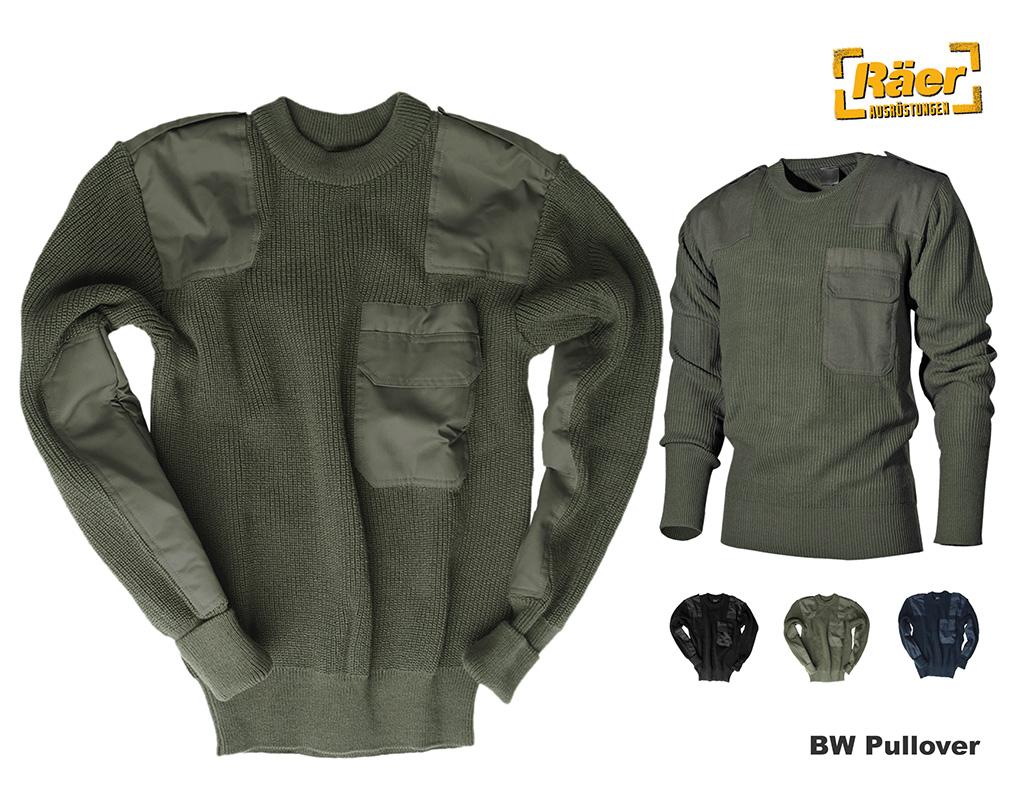 BW Pullover verstärkte Ellbogen und Schulterpartien Polyacryl Schwarz