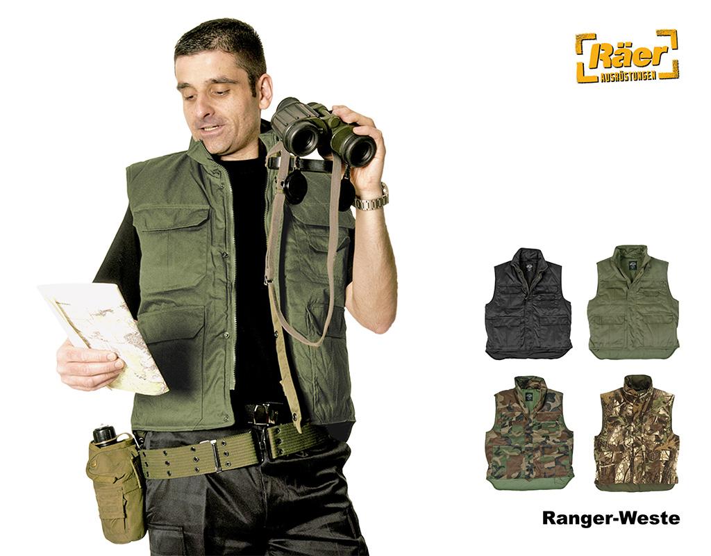 NEU BW Weste Ranger Jagd und Anglerweste MOLESKIN Bundeswehr Weste S-3XL