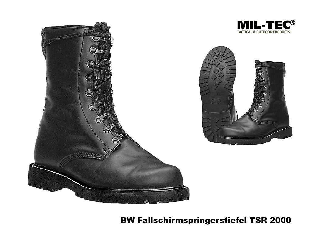 Springerstiefel TSR mit Stahlkappe schwarz