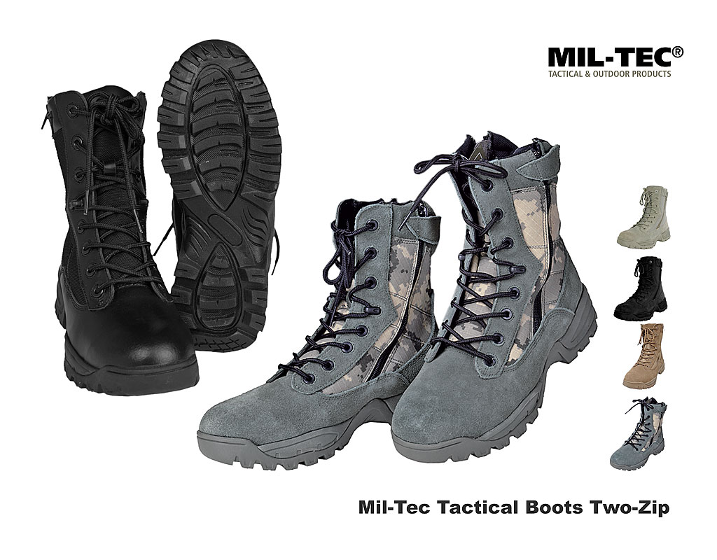 Mil Tec Tactical Boots, Two Zip A Bundeswehr Shop Räer