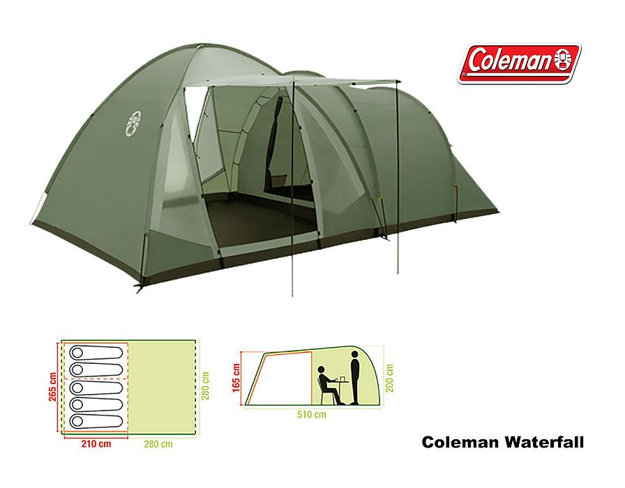 Coleman Zelt 5 P. Waterfall 5 Deluxe A
