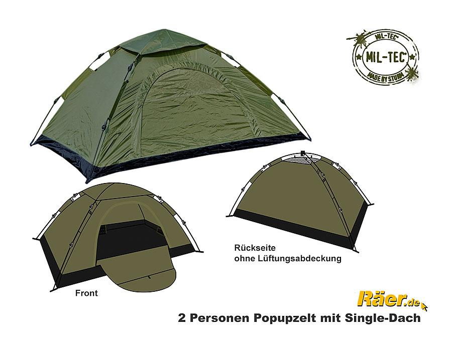 mil tec 2 p zelt pop up single dach a bundeswehr shop r er hildesheim. Black Bedroom Furniture Sets. Home Design Ideas
