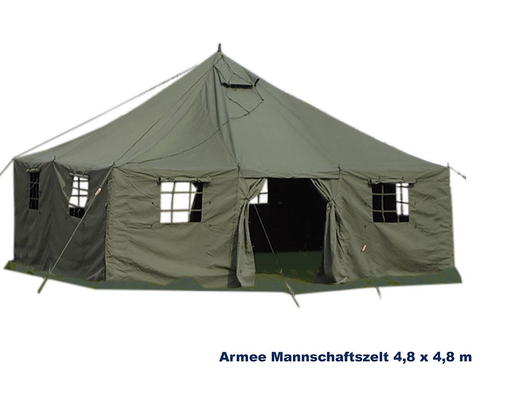 Armee Mannschaftszelt 10 x 4,8 m A Bundeswehr Shop Räer