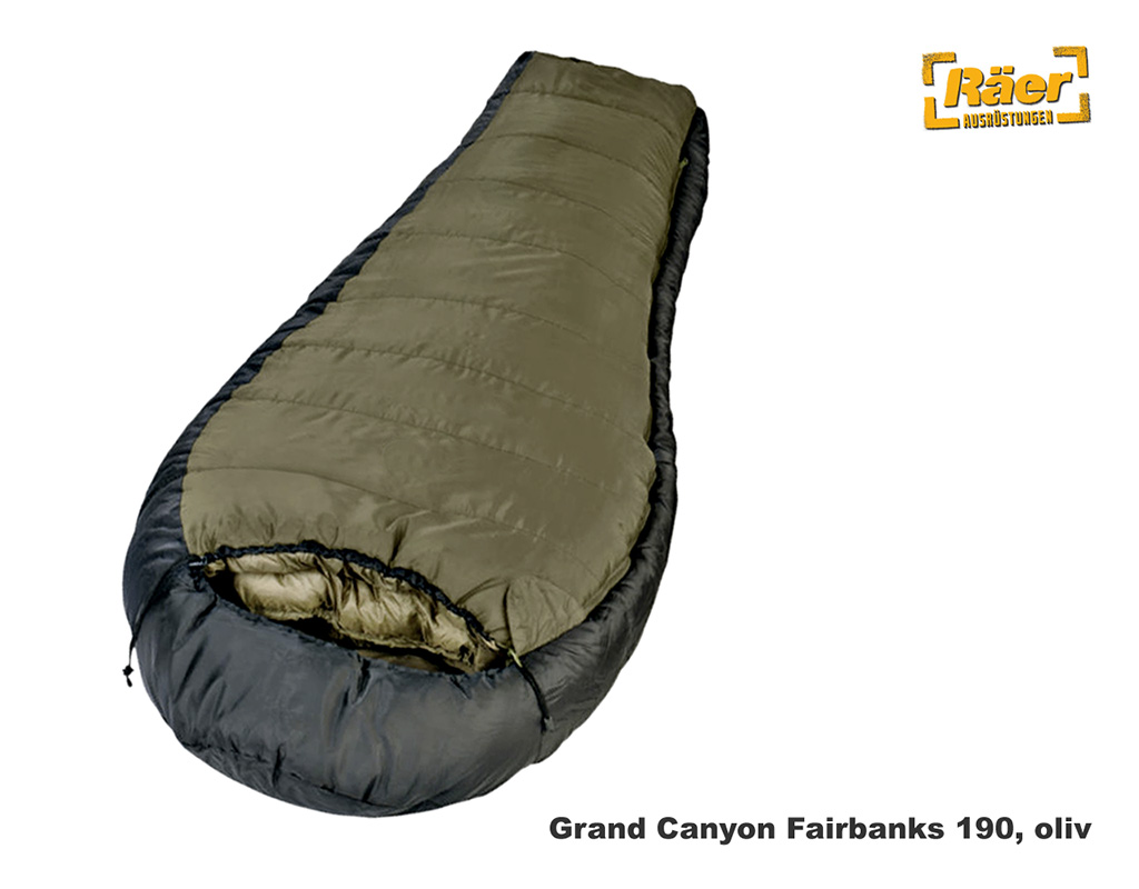 brand new 26445 17faf Grand Canyon Schlafsack Fairbanks 190 oliv A