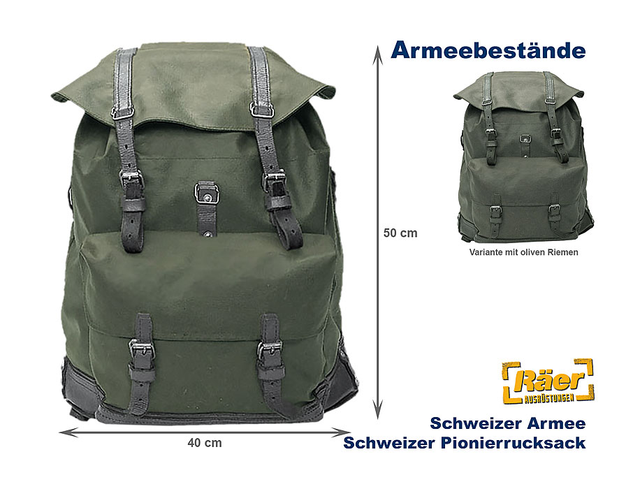 schweiz pionierrucksack klein leder lederol b bundeswehr. Black Bedroom Furniture Sets. Home Design Ideas