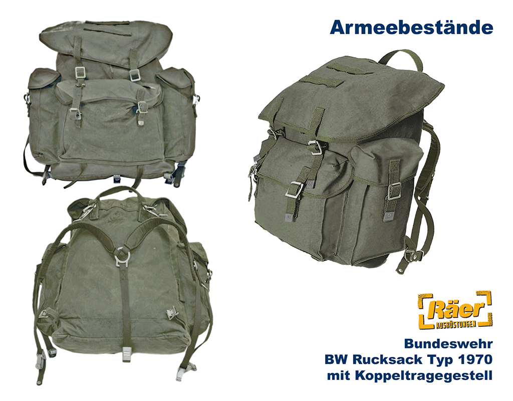 bw rucksack typ 1970 mit koppeltragegstell b bundeswehr. Black Bedroom Furniture Sets. Home Design Ideas