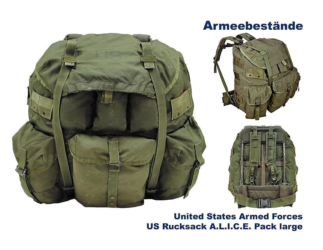 us rucksack alice pack large gebraucht b bundeswehr. Black Bedroom Furniture Sets. Home Design Ideas