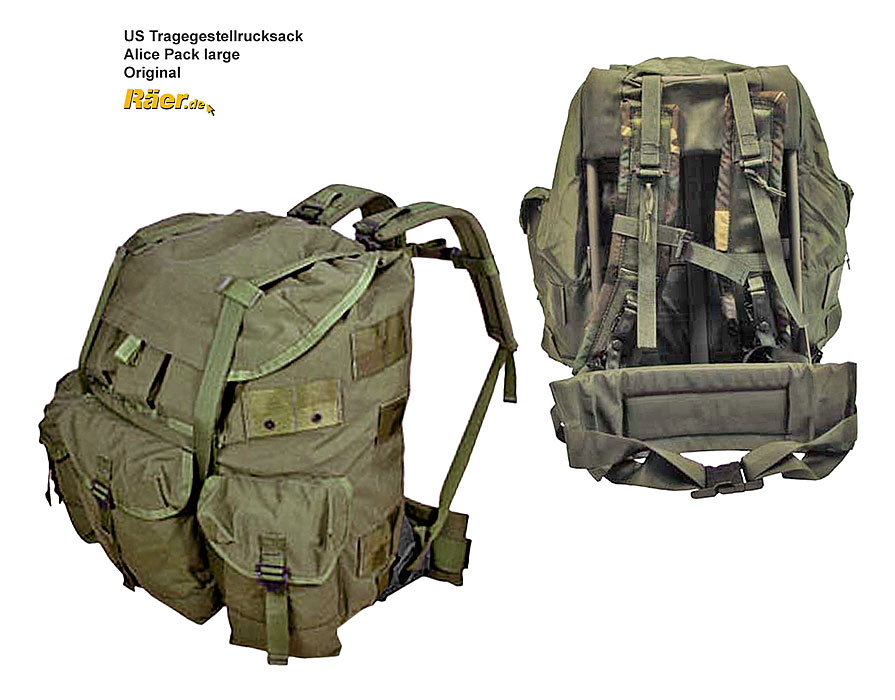 US Rucksack Alice Pack - Large - neuwertig A/B Bundeswehr Shop Räer ...