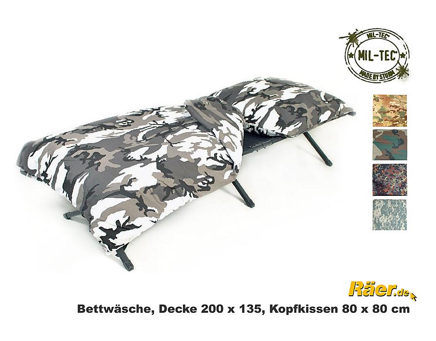 Armee Bettwäsche Bettbezugkopfkissen A Bundeswehr Shop Räer