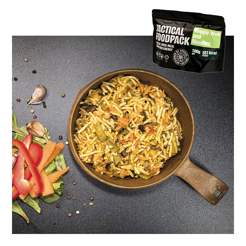 Tactical Foodpack Veggie Wok and Noodles    A