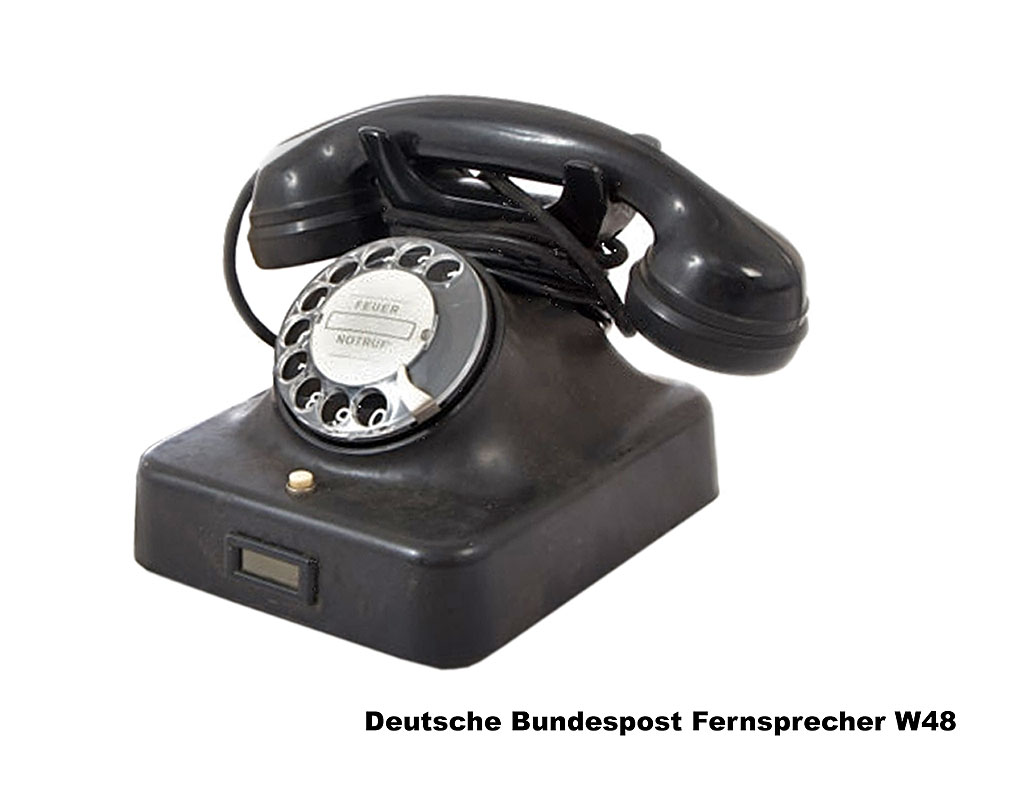 deutsche bundespost telefon w48 b bundeswehr shop r er. Black Bedroom Furniture Sets. Home Design Ideas