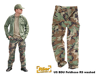 US Feldhose BDU Ripstop Cotton washed    A