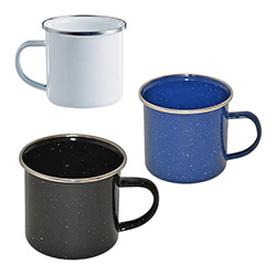 Western Emaille Tasse 350 ml, V2A-Rand    A