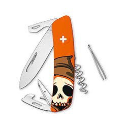 Swiza Schweizer Messer D03 Skull orange A